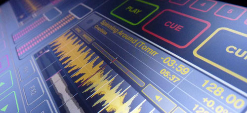 Mesa para DJs sensível ao toque