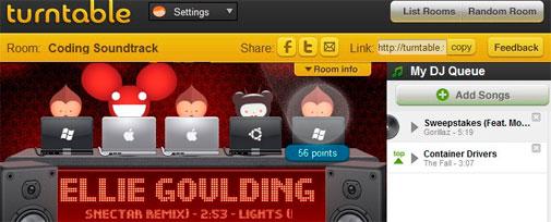 TURNTABLE.FM - Balada Virtual, Rede Social que Transforma todos em DJ