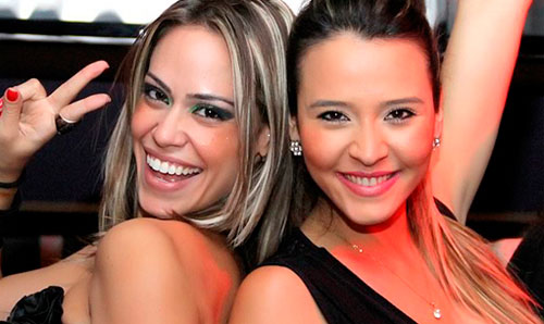 Tháscya e Morgana no Big Brother Brasil 2012